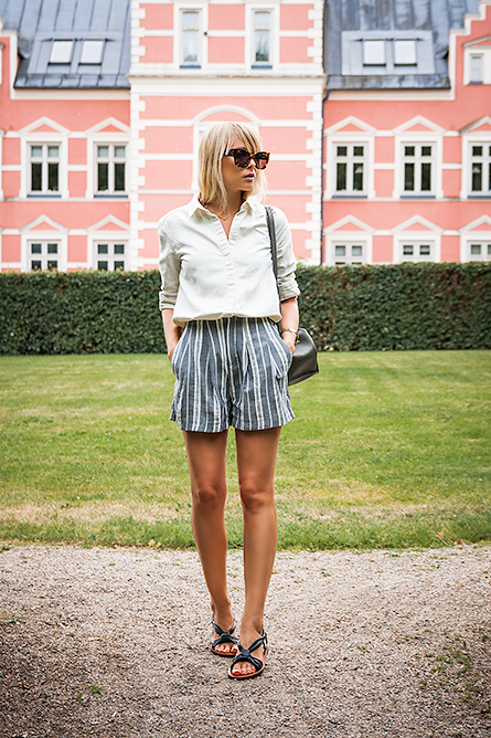Rayures et shorts   On aime d'amour