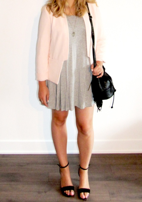 veston blush robe grise | On aime d'amour