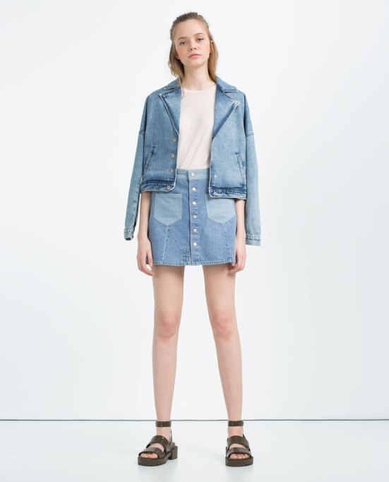 jupe denim-zara