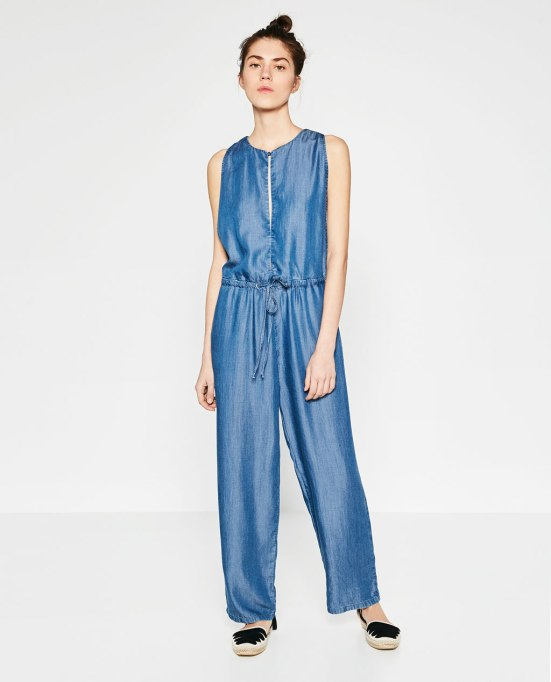 zara jumpsuit denim